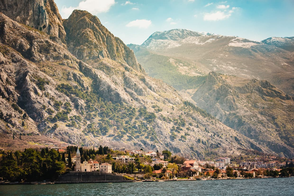The Bay of Kotor in Montenegro.