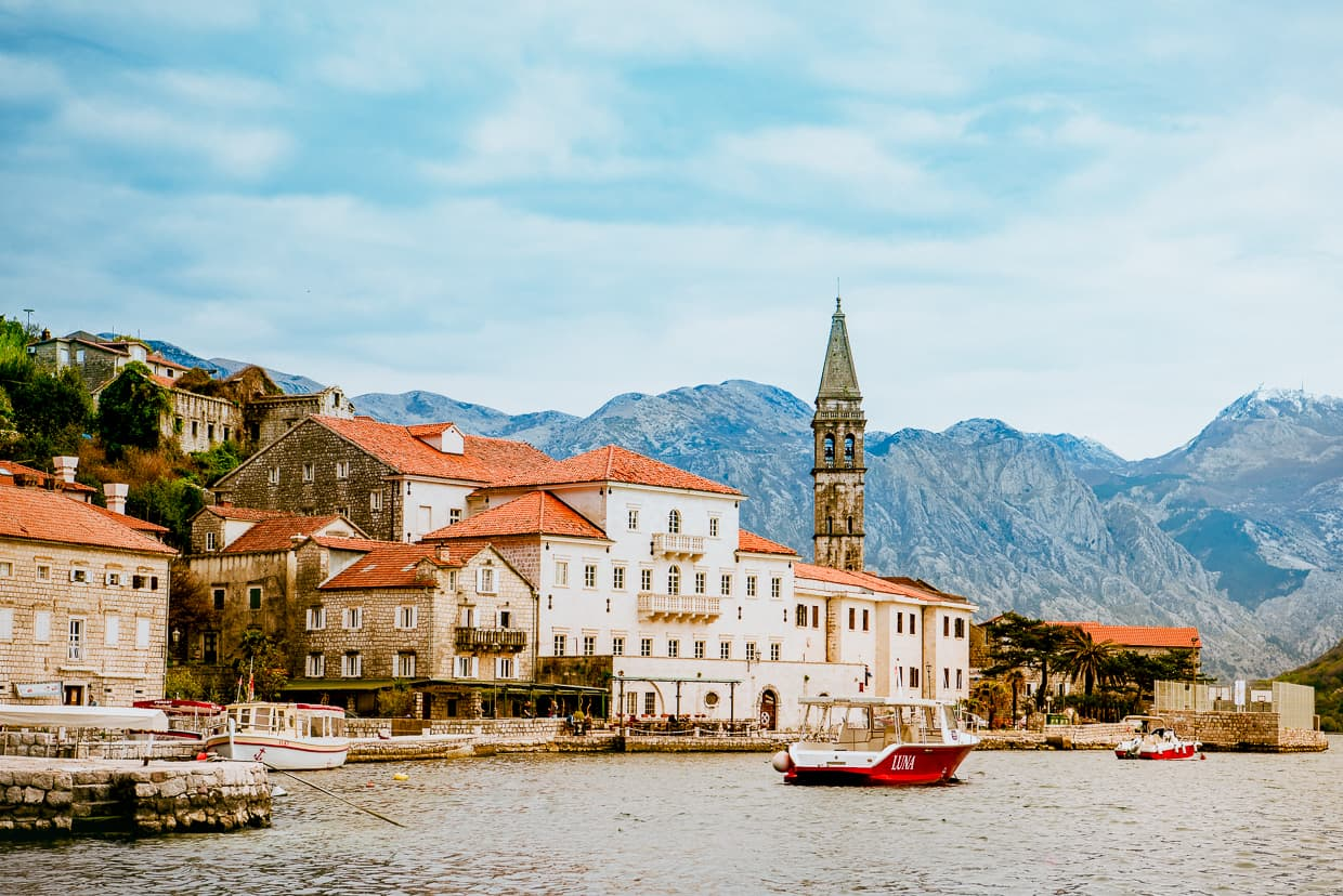 Perast, Montenegro and the Bay of Kotor.
