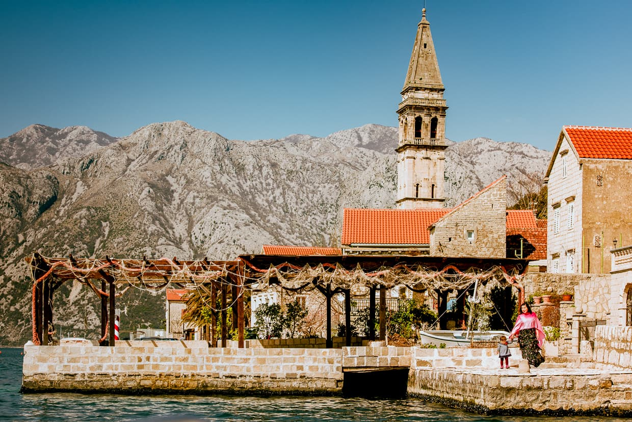 The Admiral Restaurant in Perast, Montenegro.