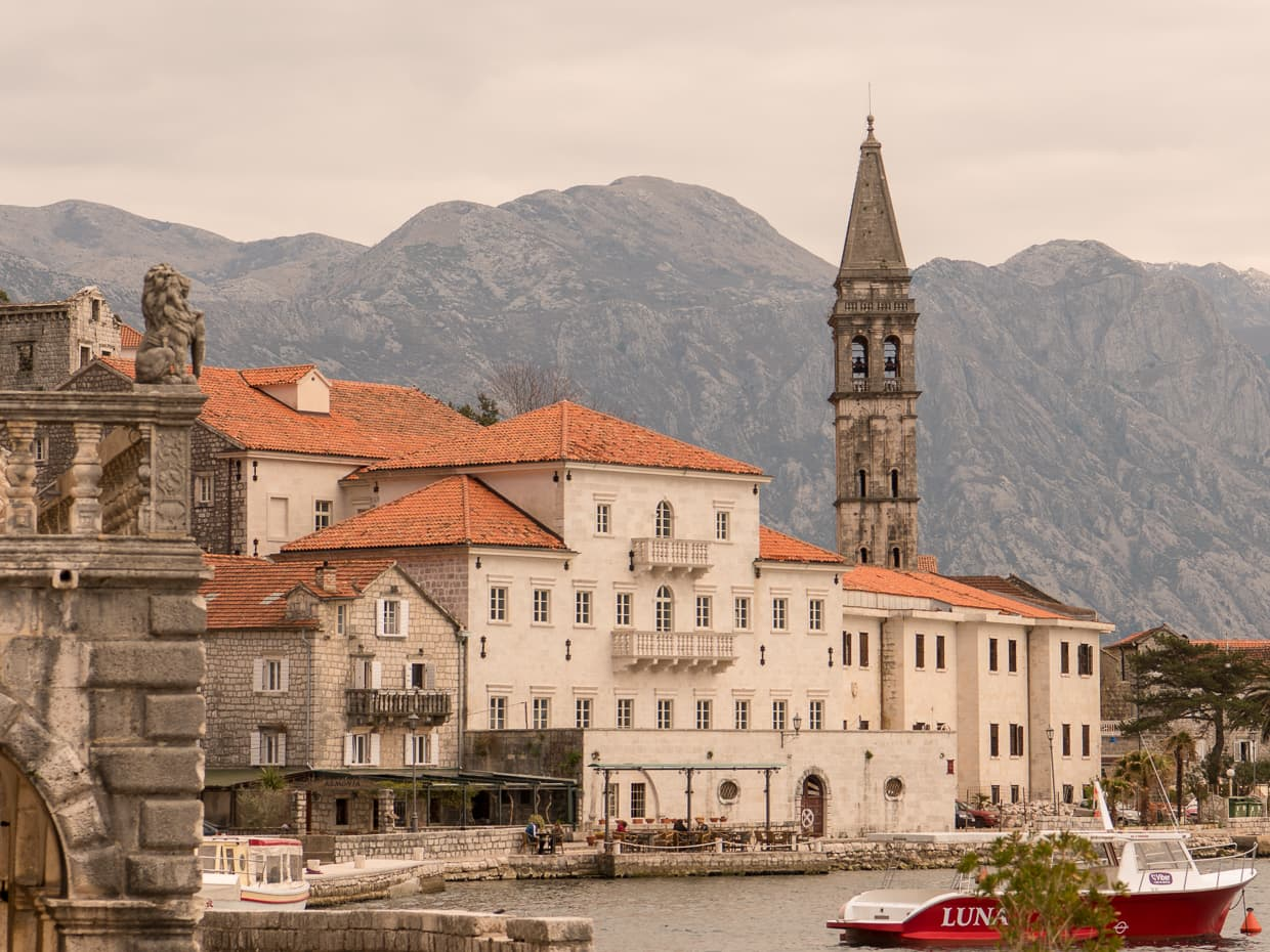 Perast, Montenegro in March, 2017.