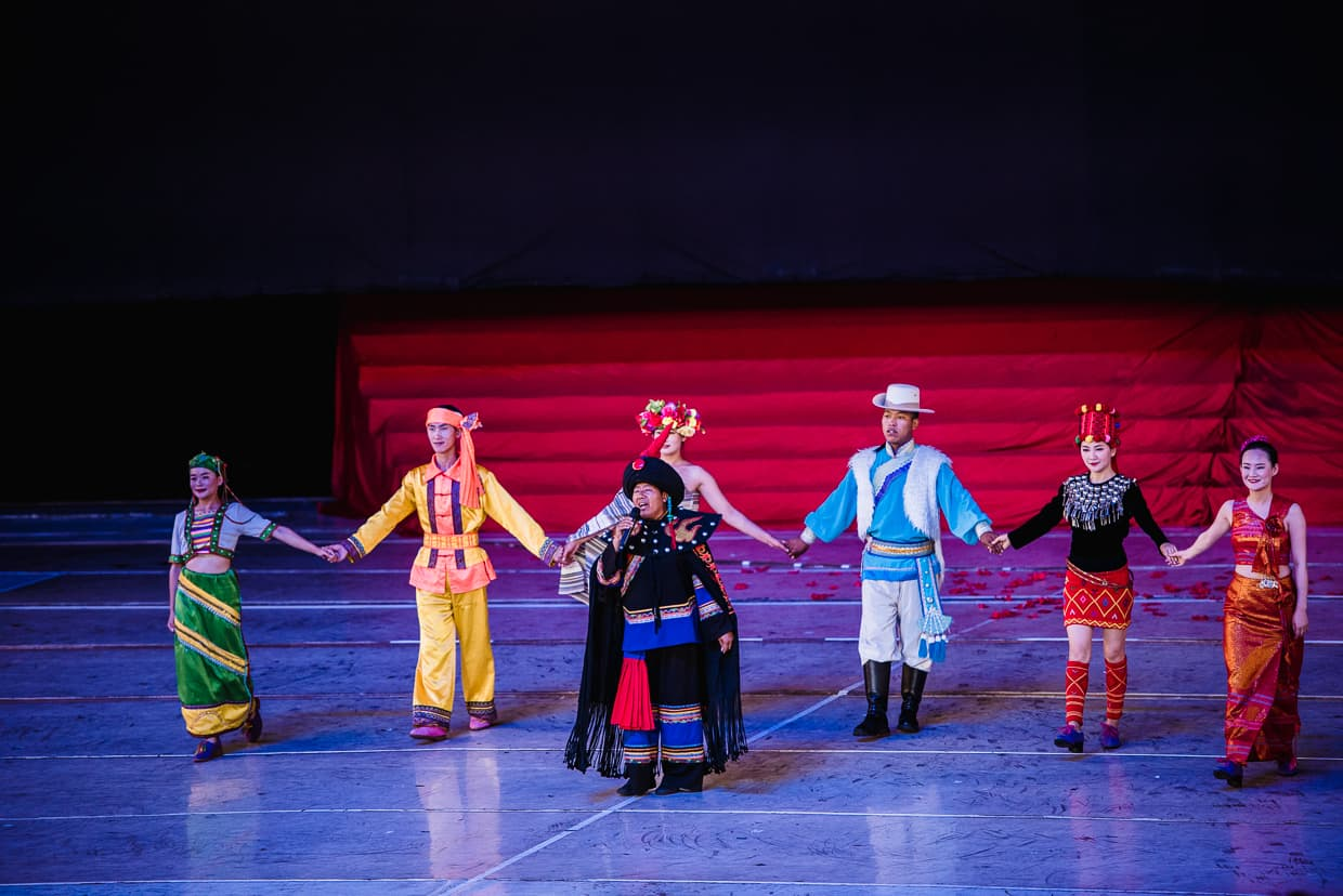 The Yunnan Ethnic Village Dance Performance Theater in Kunming, China.