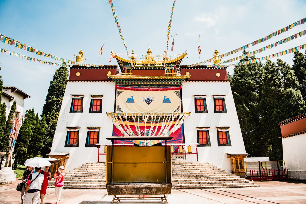 Tibetan buddhist temple in the Yunnan Ethnic Village in Kunming, China.