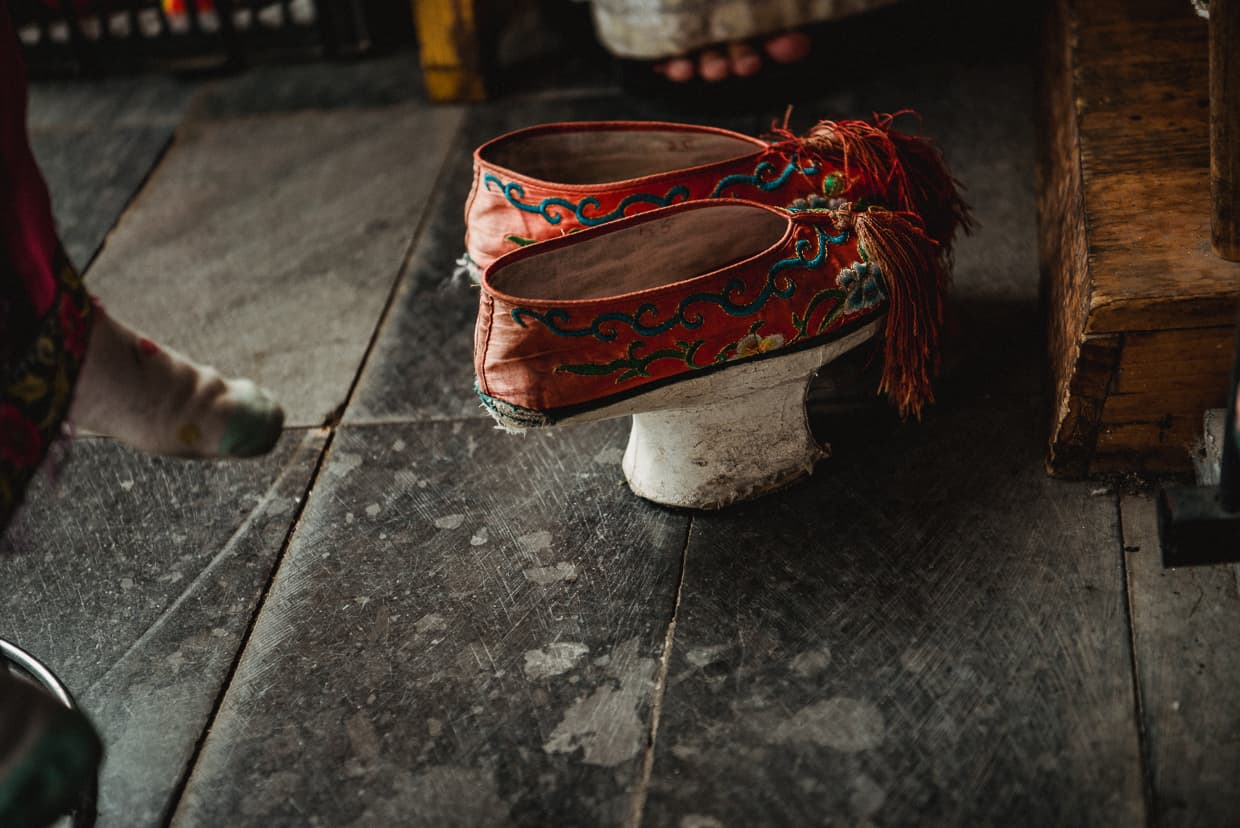 Traditional Manchurian shoes.