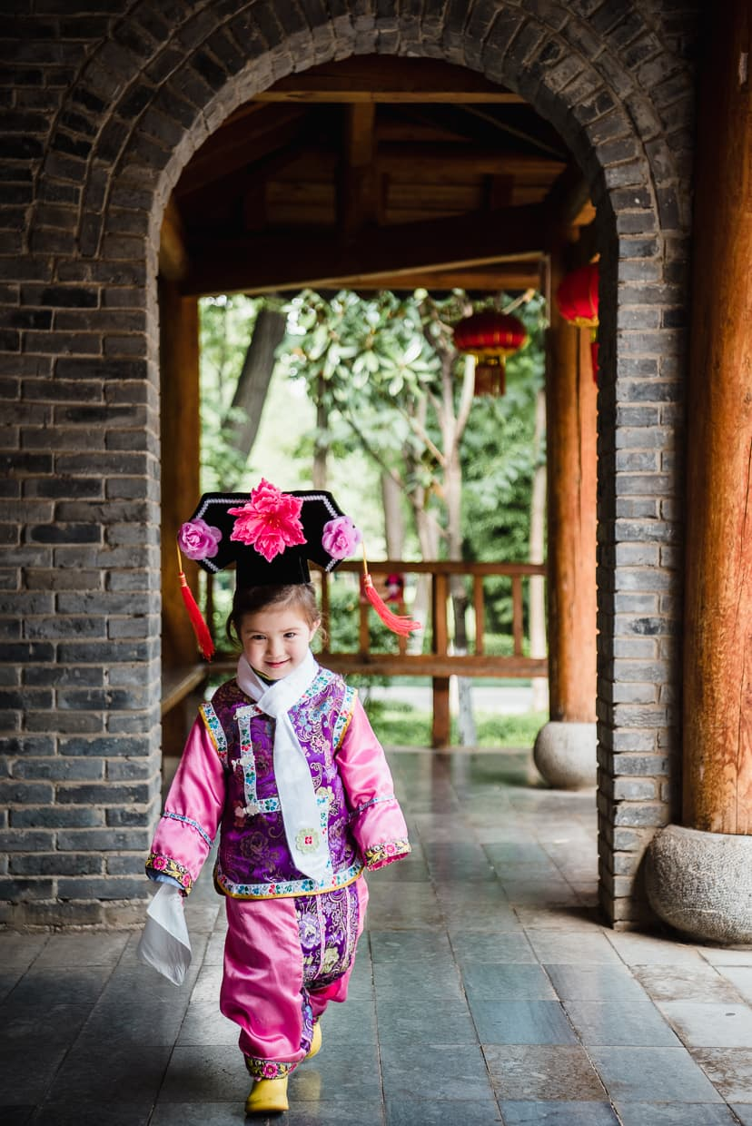 Dress up in the Manchurian village.