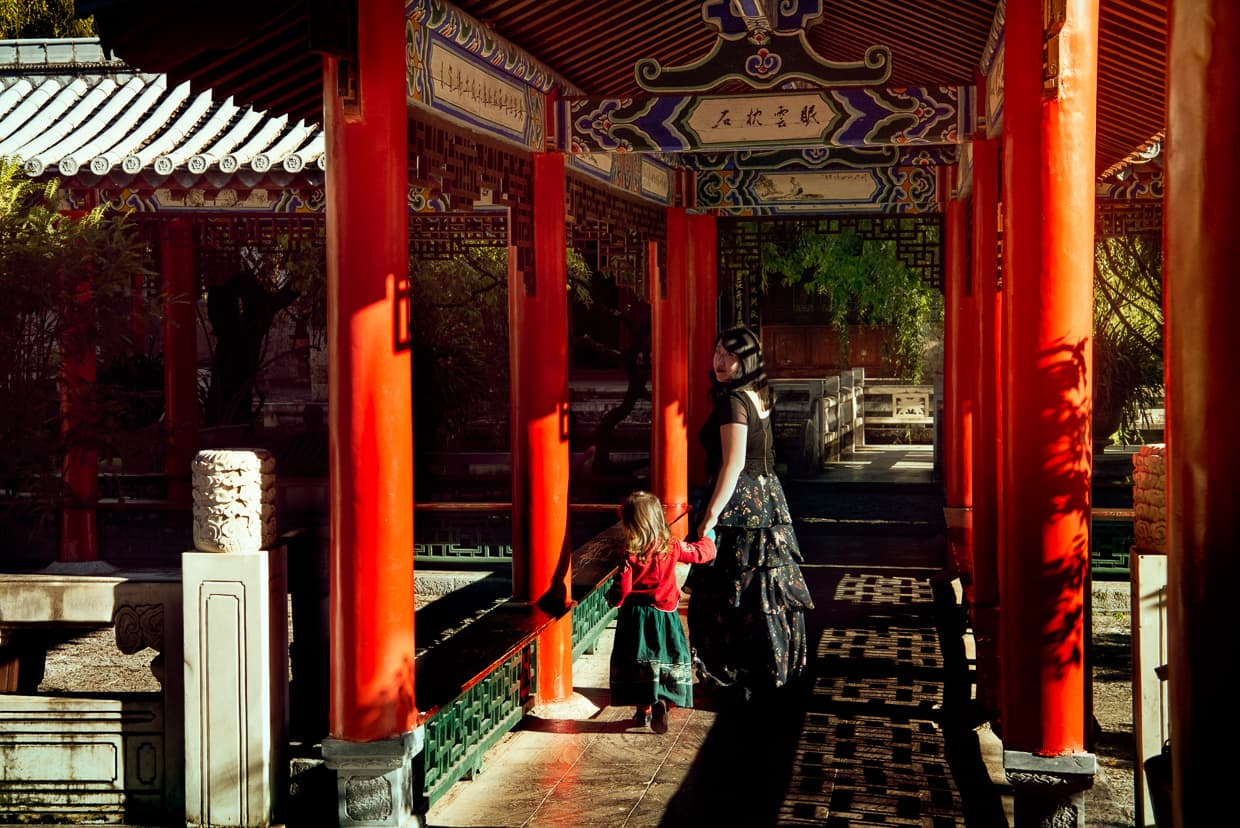 Taking a stroll in Lijiang, China. Mufu Palace.