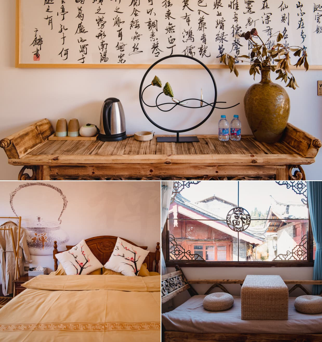 Our hotel bedroom in Lijiang, China.