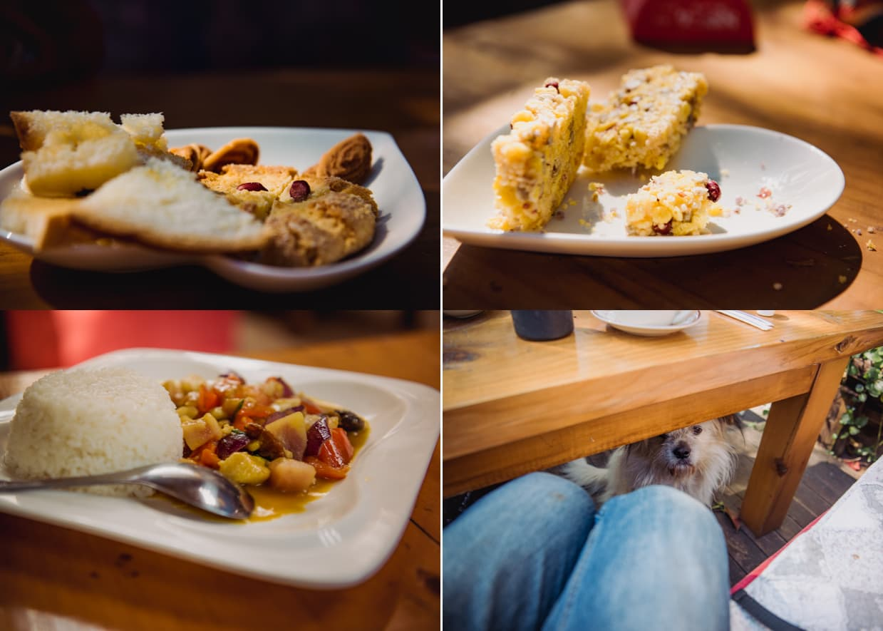 Food we ate at our guesthouse in Shuhe.