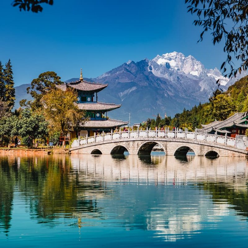 The Black Dragon Pool in Lijiang, China