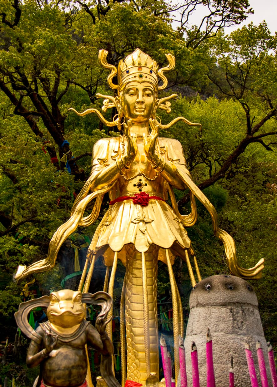 Guan Yim Statue in Lijiang, China.