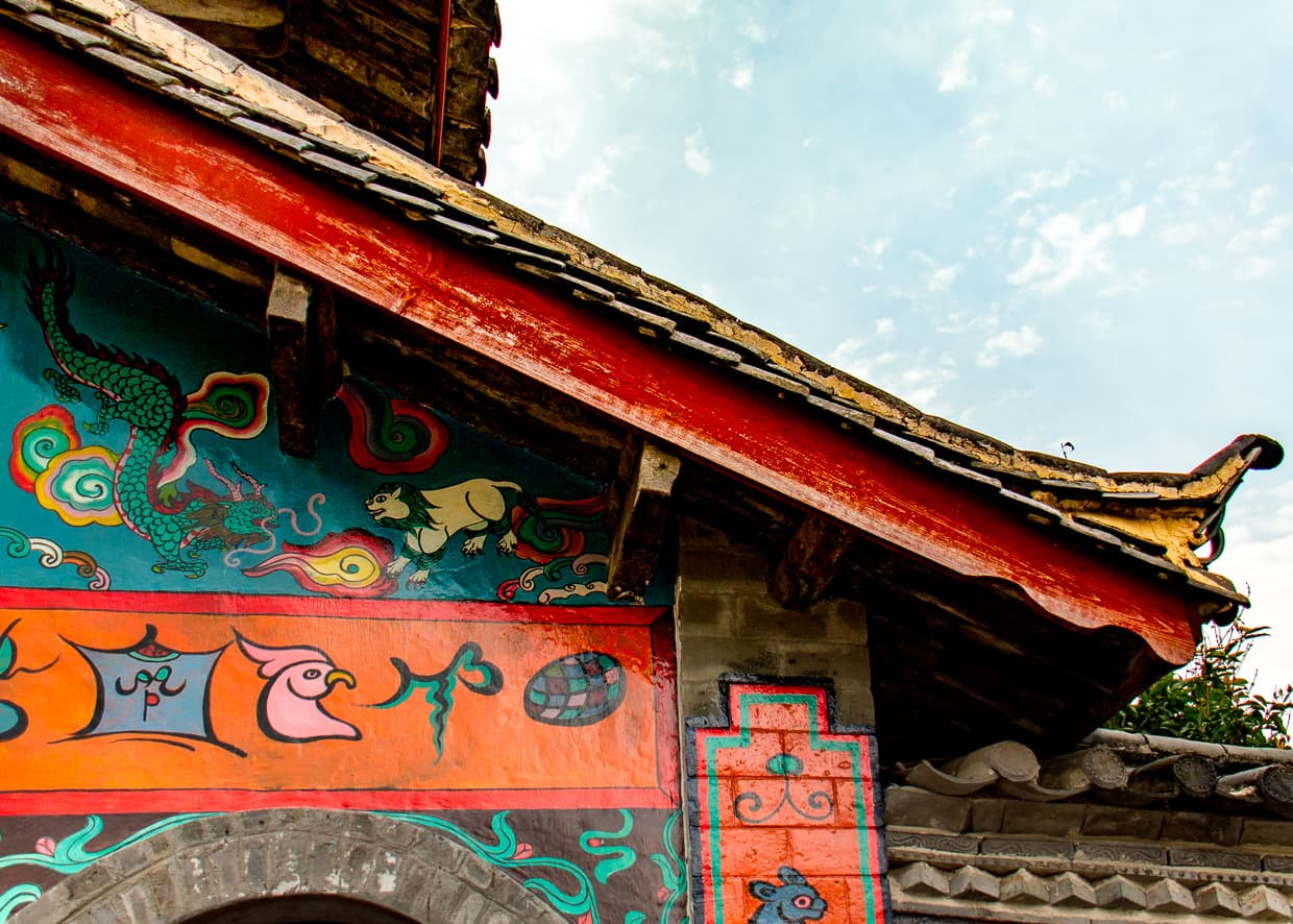 Naxi minority architecture in Lijiang, China.