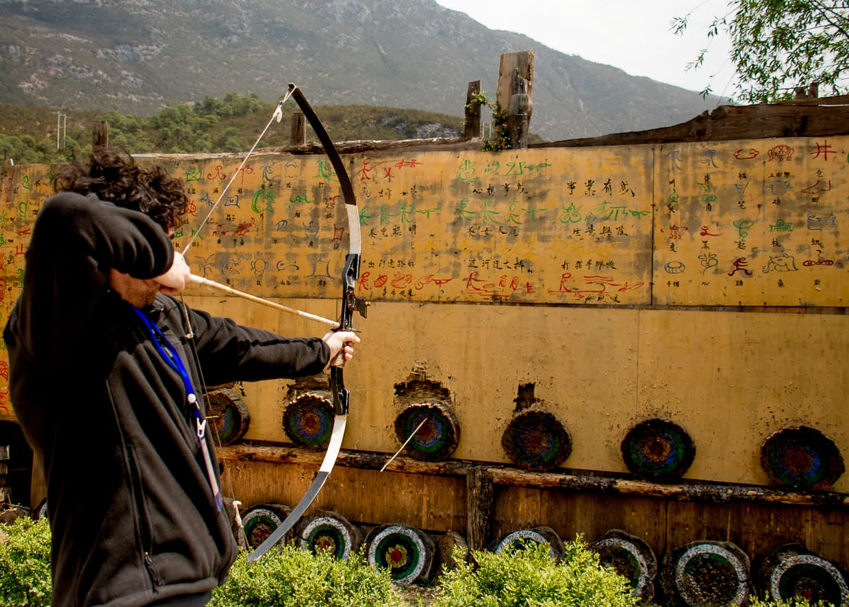 Archery in Lijiang, China.