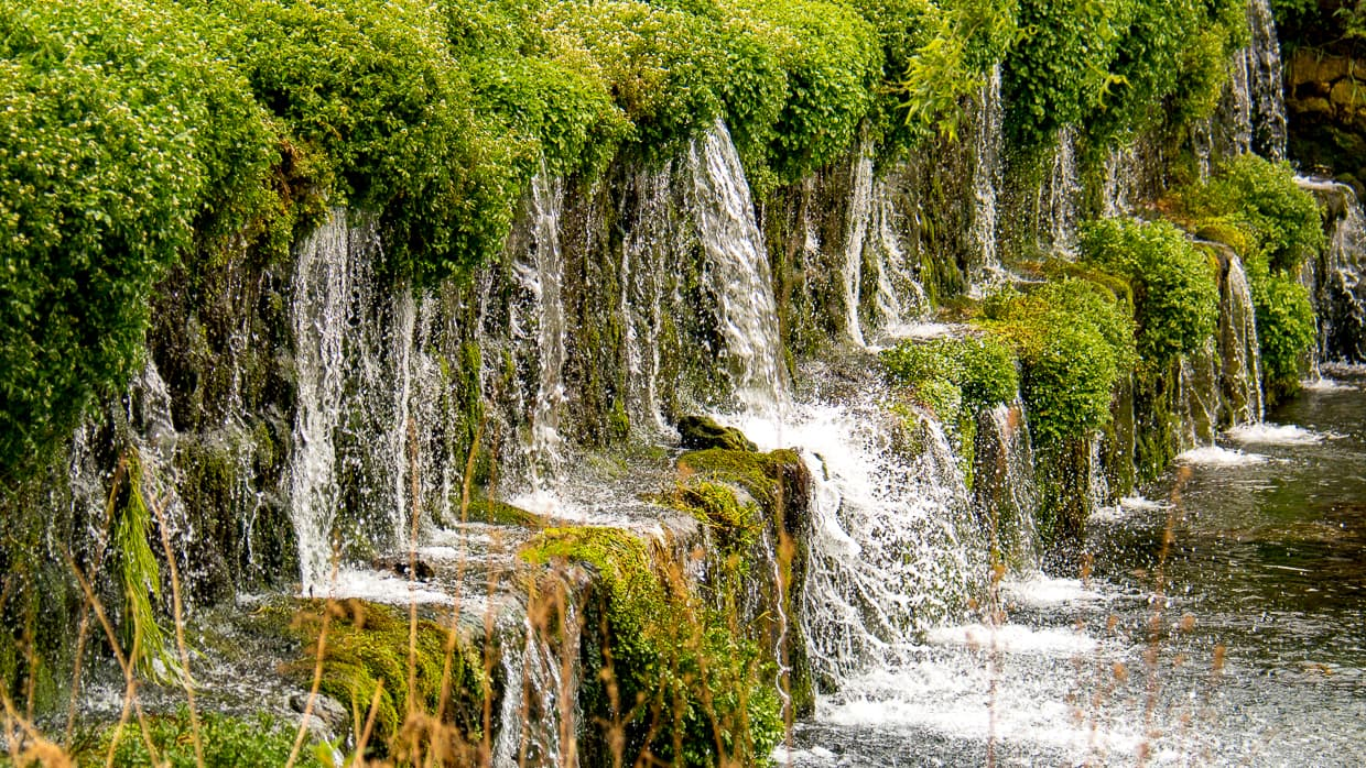 A park waterfall on our tour of the Jade Dragon Snow Mountain.