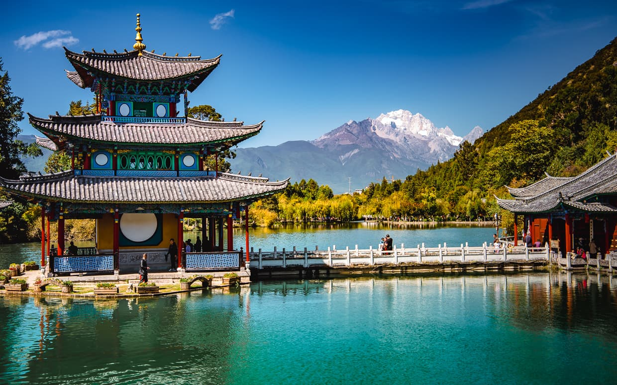 The Black Dragon Pool near the Lijiang Old Town.