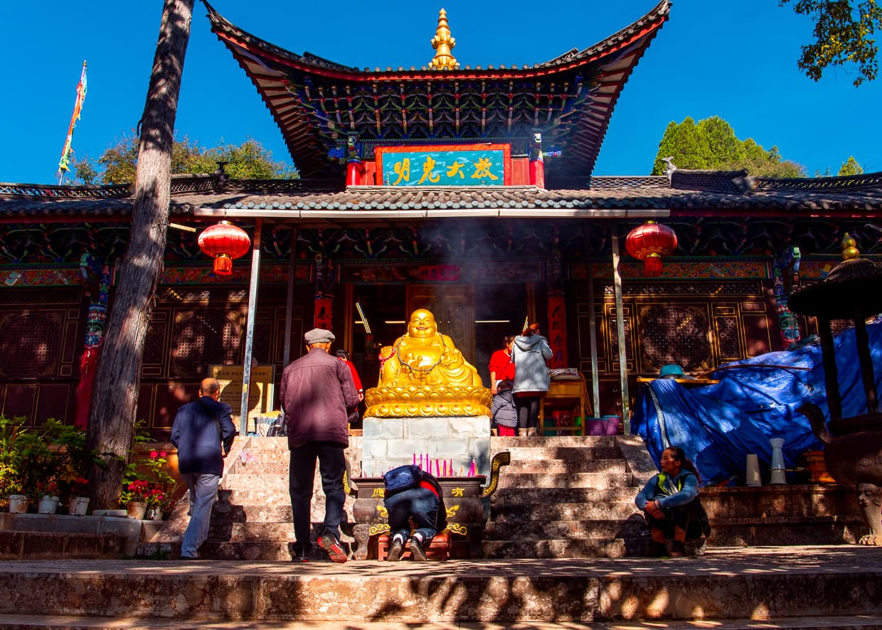White Horse Dragon Pool Buddhist Temple in Lijiang Old Town.