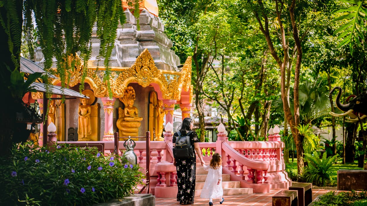 A shrine in the Erawan Museum Gardens.