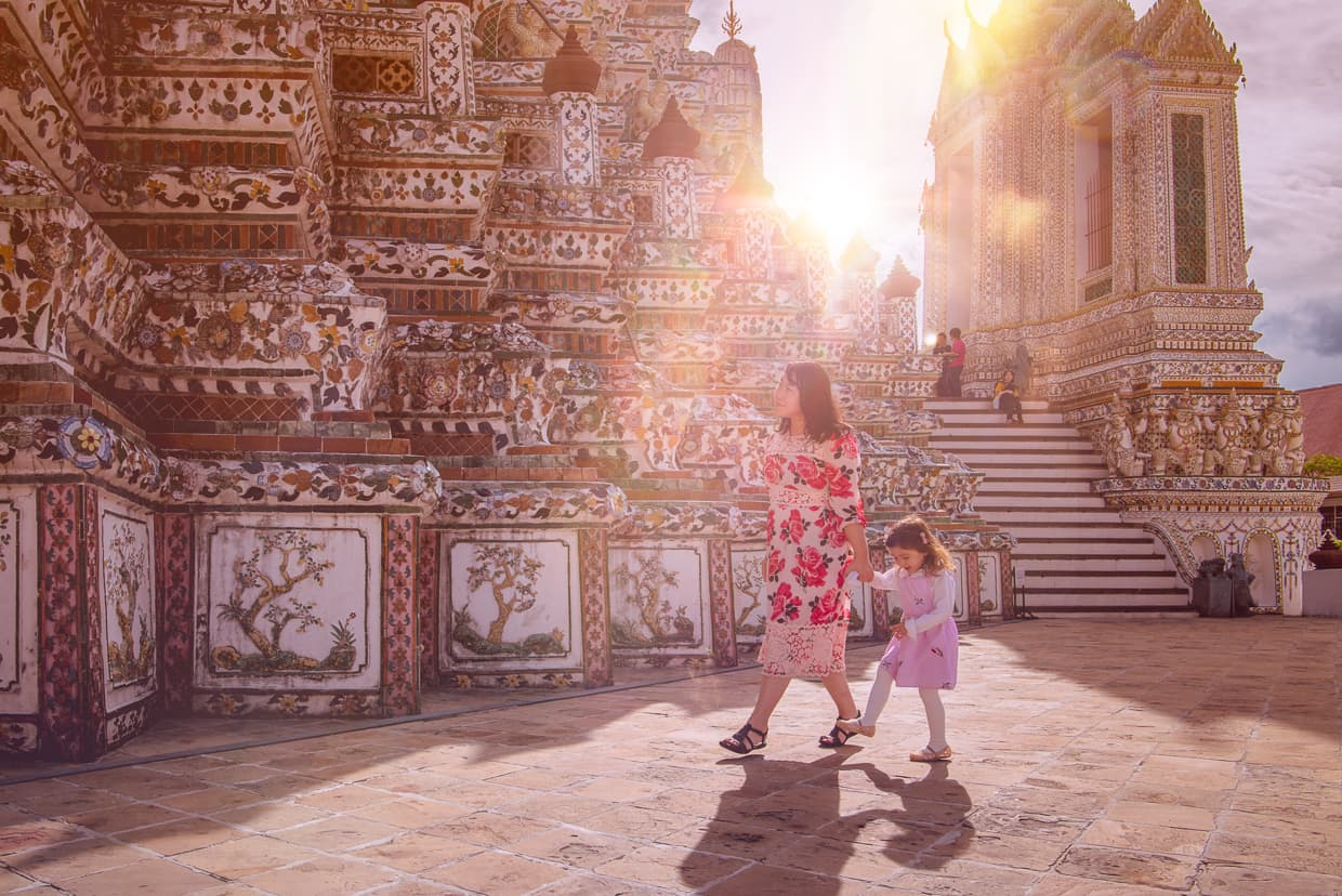 Early Morning Light at Wat Arun in Bangkok, Thailand.