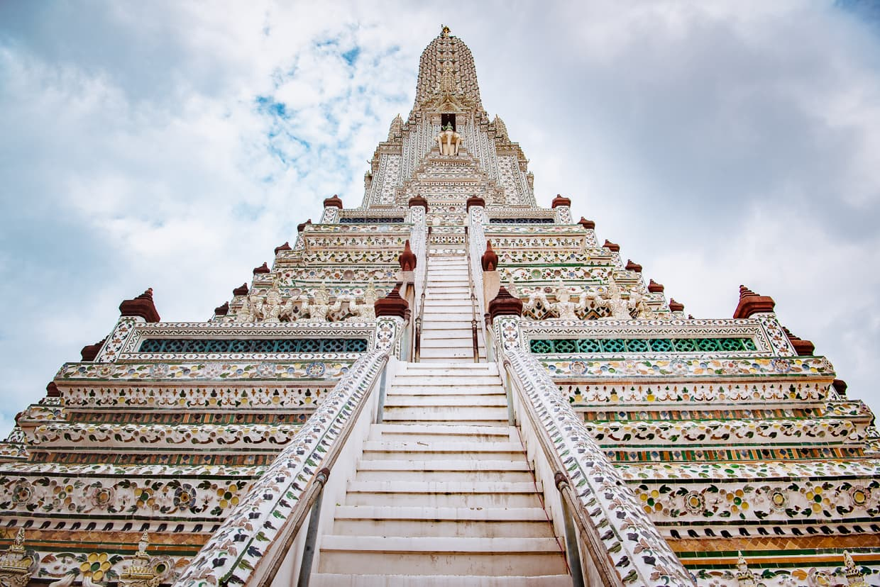Stairs to the top of Wat Arun.