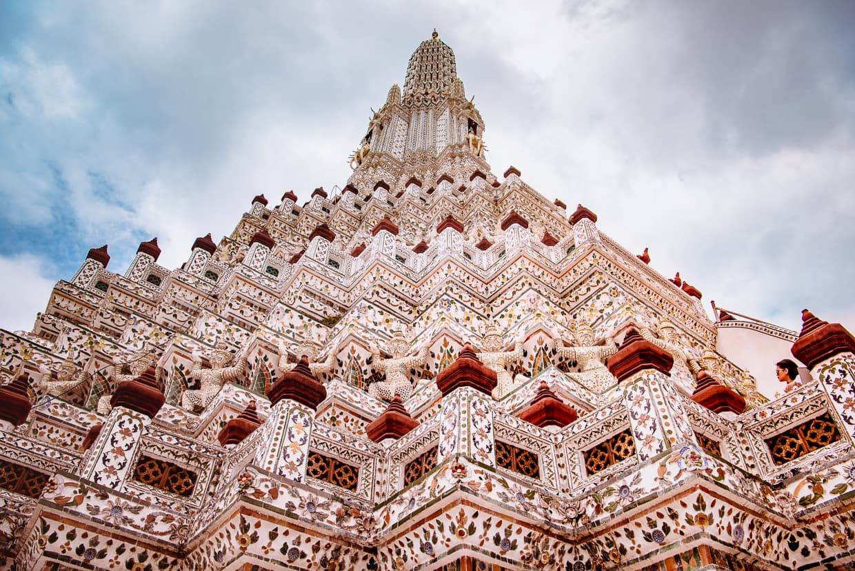 The main pyramid of Wat Arun.