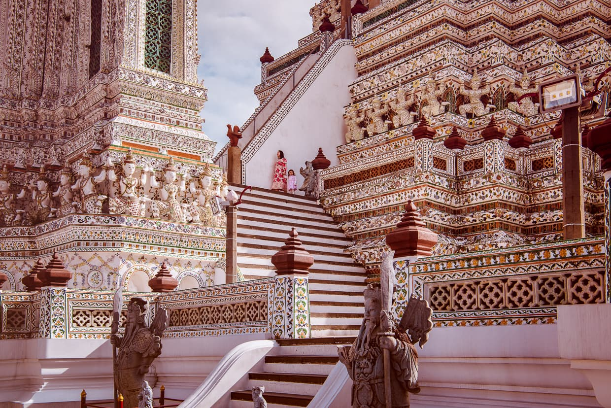 The stairs on Wat Arun.