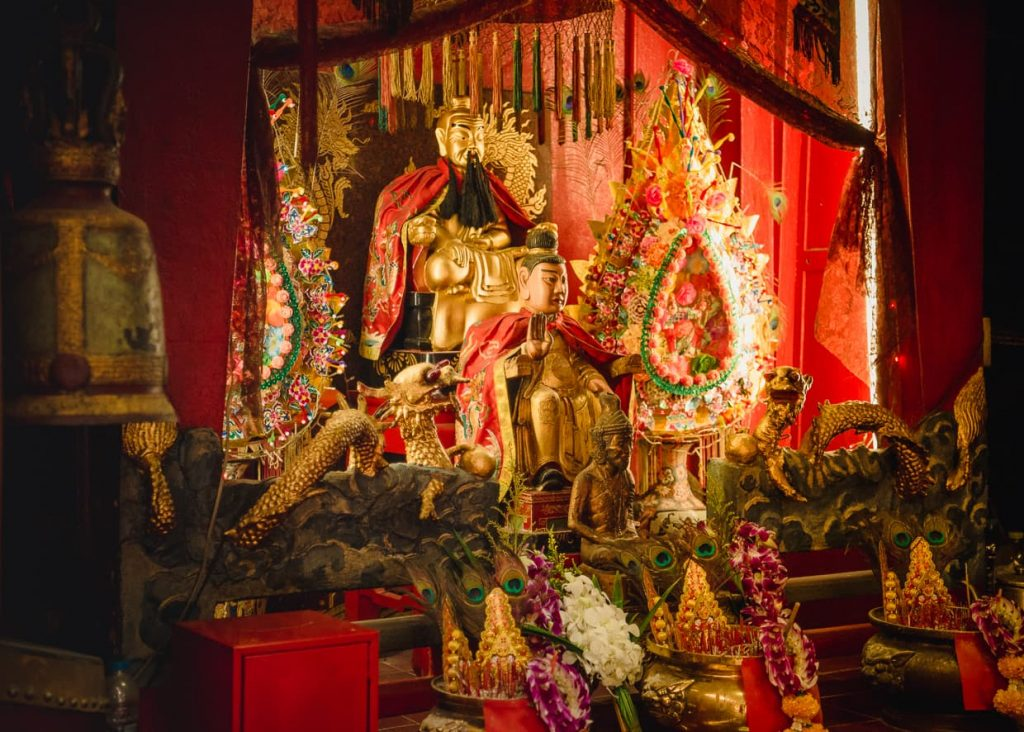 A shrine in a bangkok, thailand alley