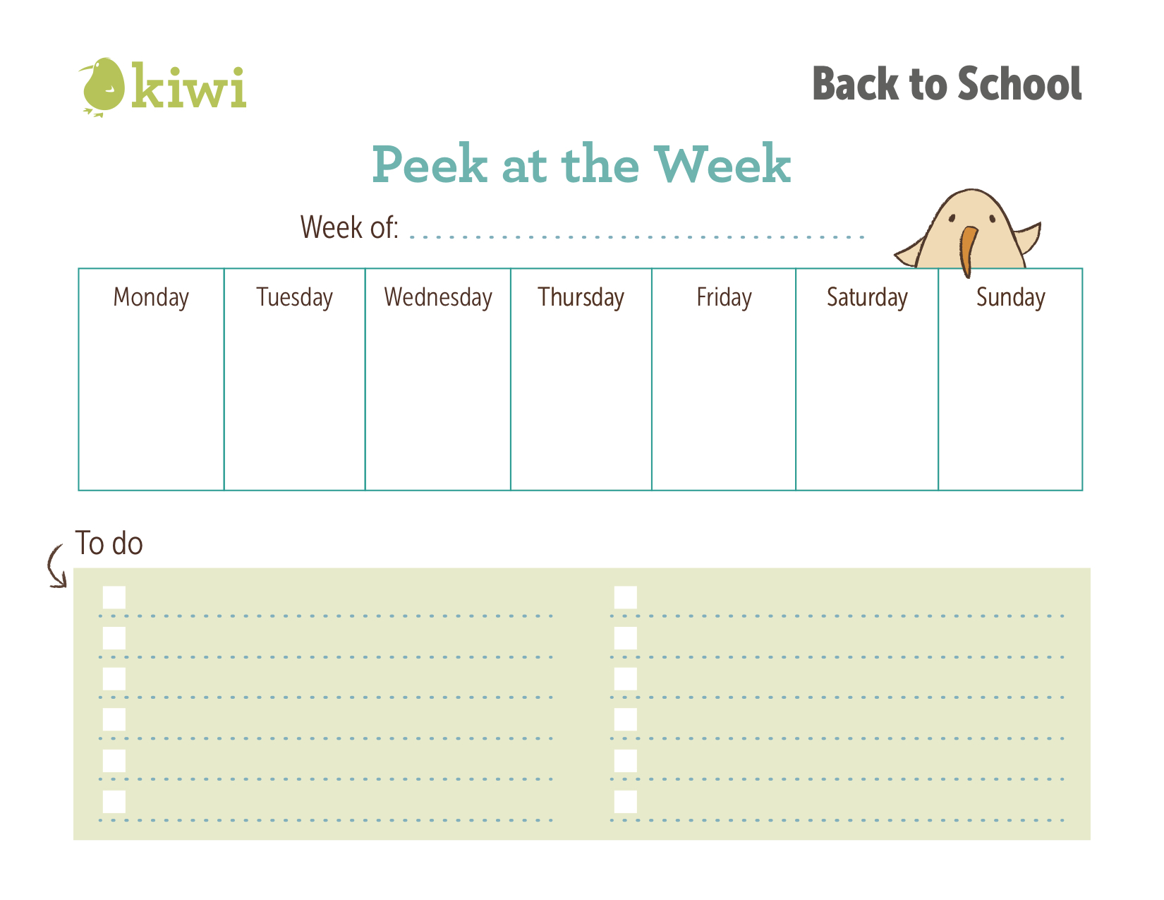 teach them to look forward to soccer on thursday or a playdate on saturday with this printable calendar - School Worksheet Printables