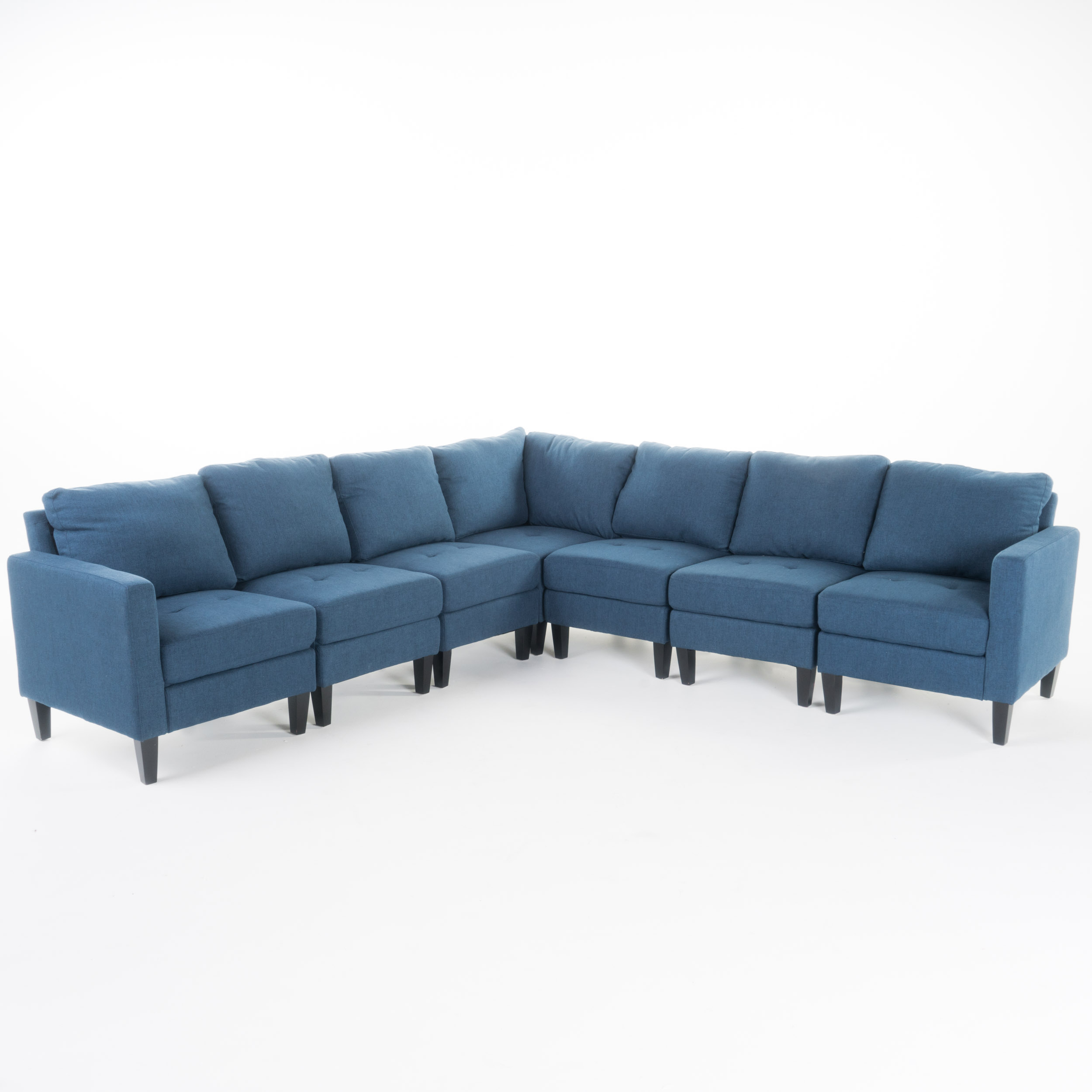Astounding Carolina Contemporary 7 Piece Fabric Sectional Sofa With Bralicious Painted Fabric Chair Ideas Braliciousco