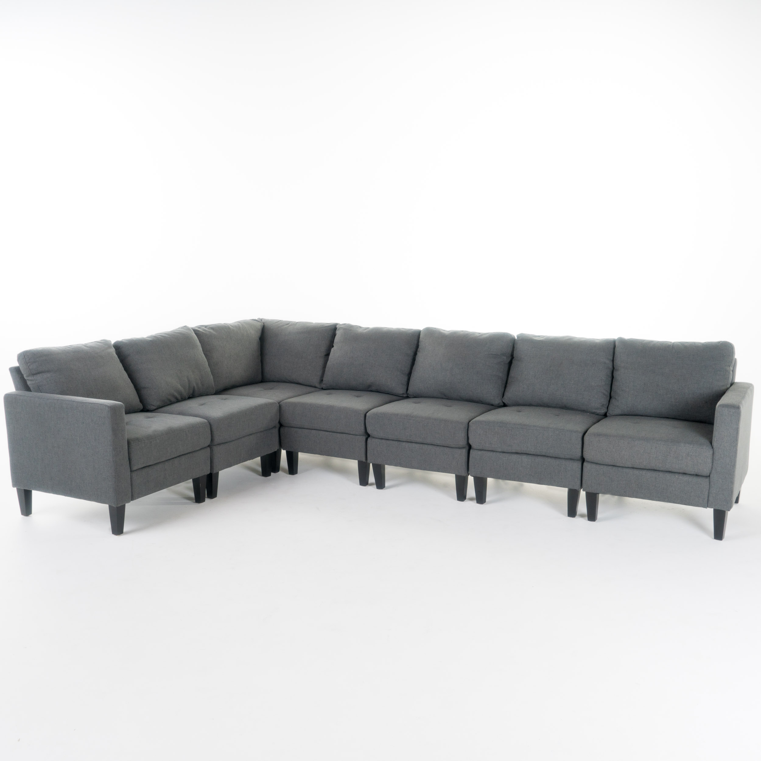 Brilliant Carolina Contemporary 7 Piece Fabric Sectional Sofa With Bralicious Painted Fabric Chair Ideas Braliciousco