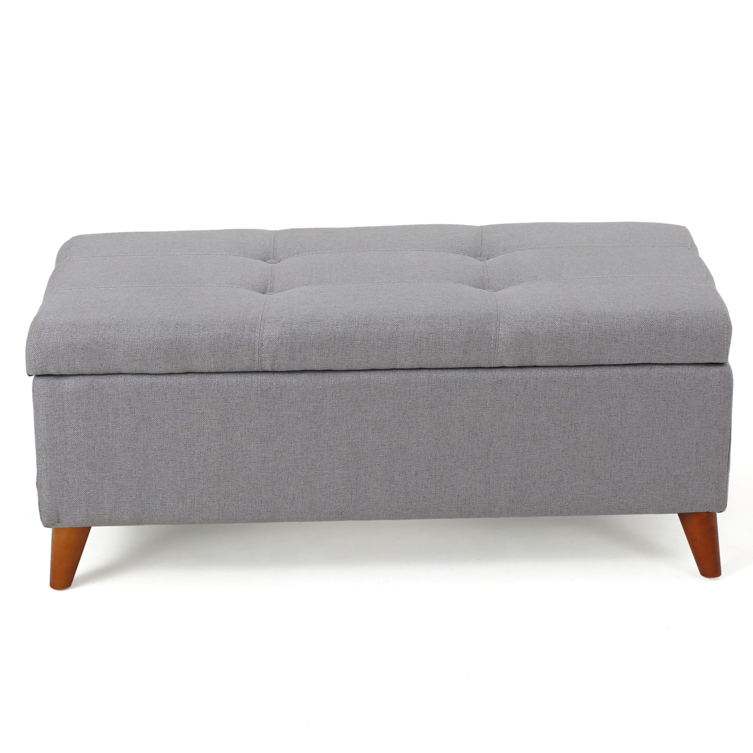 Superb Details About Etoney Mid Century Modern Button Tufted Fabric Storage Ottoman Bench Creativecarmelina Interior Chair Design Creativecarmelinacom