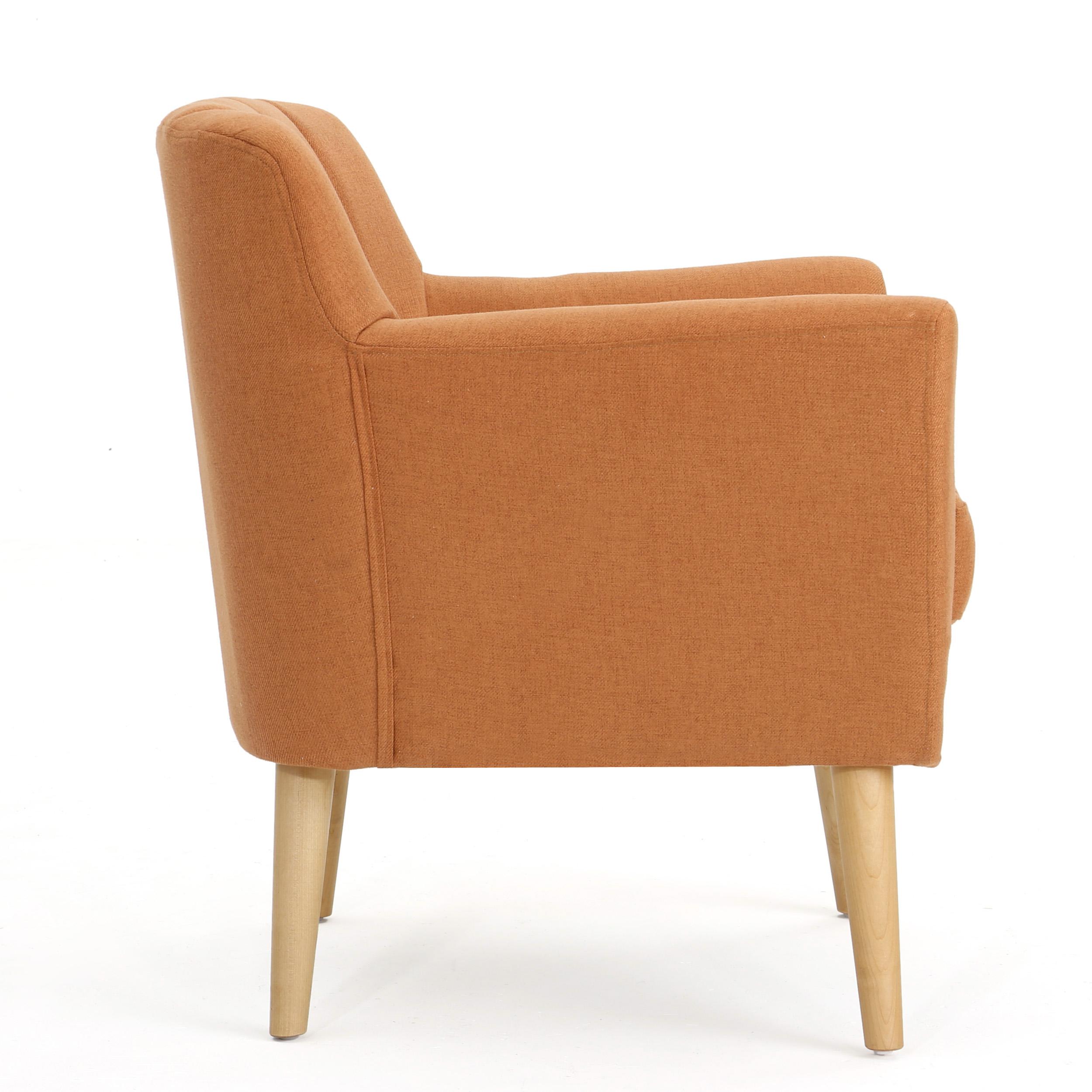 Wondrous Madelyn Mid Century Modern Fabric Club Chair Ebay Machost Co Dining Chair Design Ideas Machostcouk