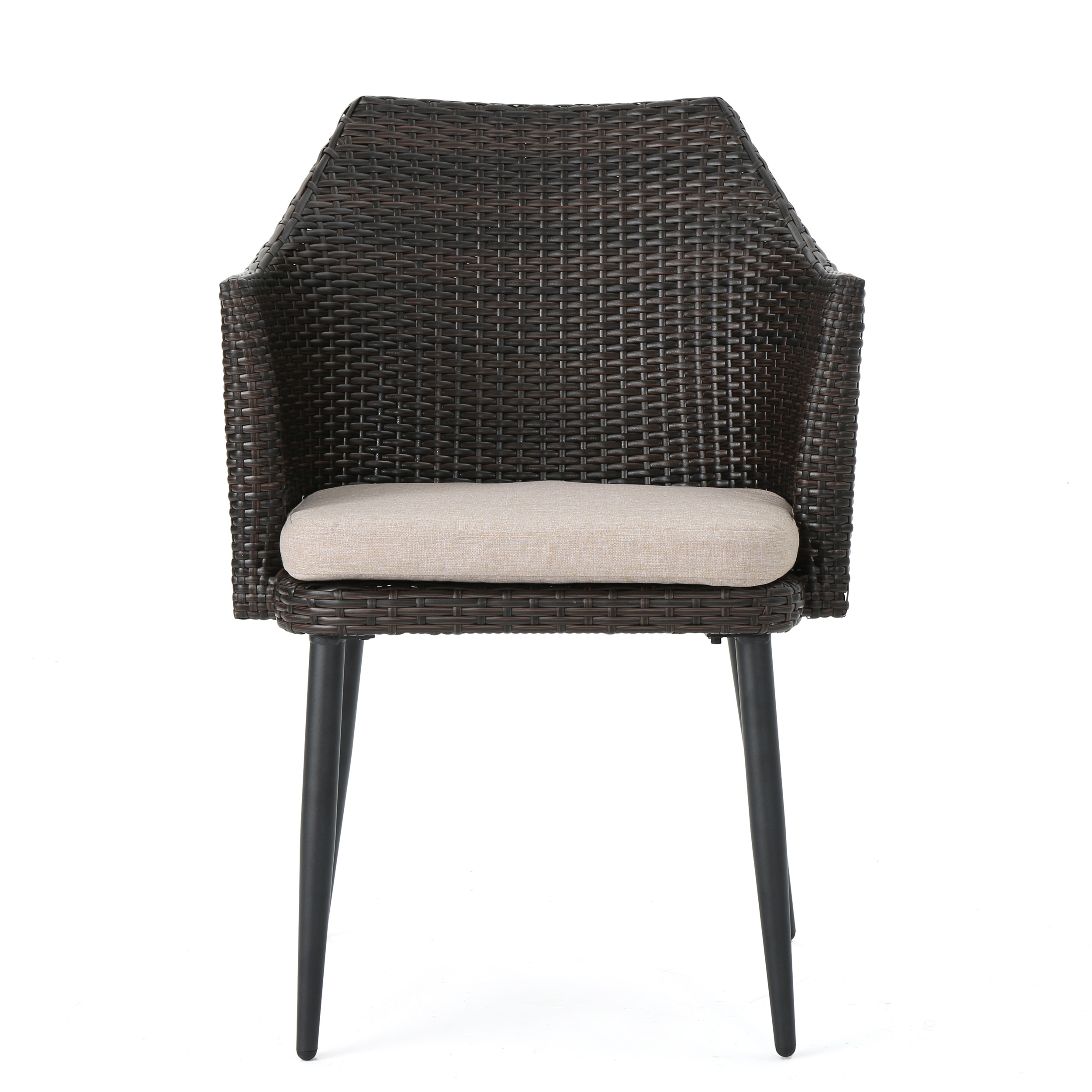 Ibiza-Outdoor-Wicker-Dining-Chairs-with-Water-Resistant-Cushion-Set-of-2 thumbnail 8