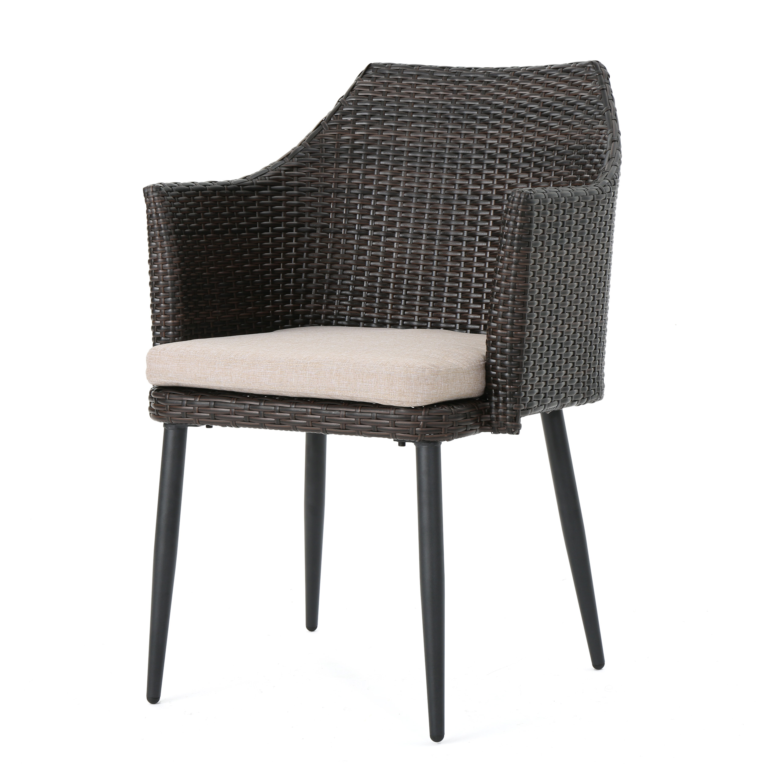 Ibiza-Outdoor-Wicker-Dining-Chairs-with-Water-Resistant-Cushion-Set-of-2 thumbnail 9