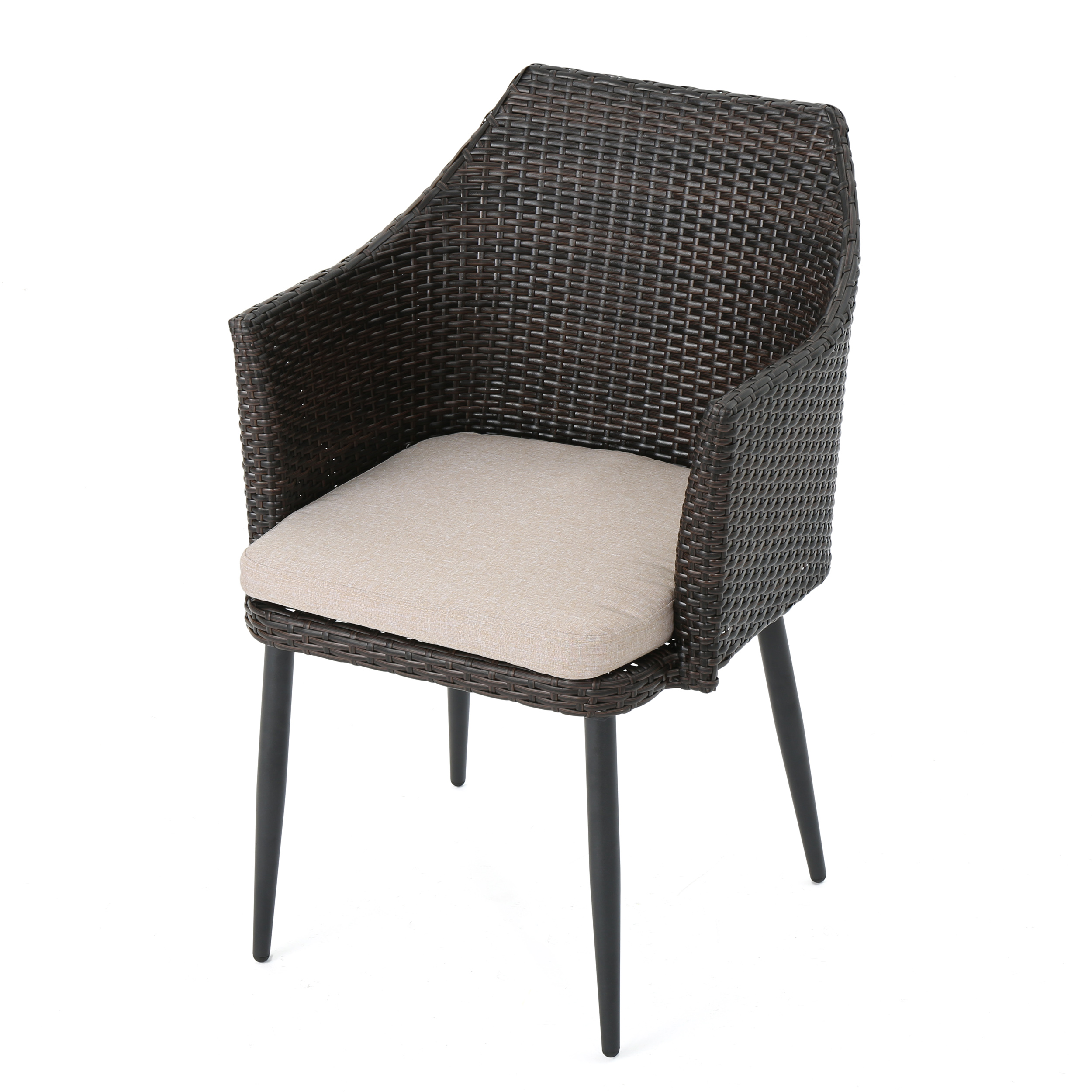 Ibiza-Outdoor-Wicker-Dining-Chairs-with-Water-Resistant-Cushion-Set-of-2 thumbnail 10