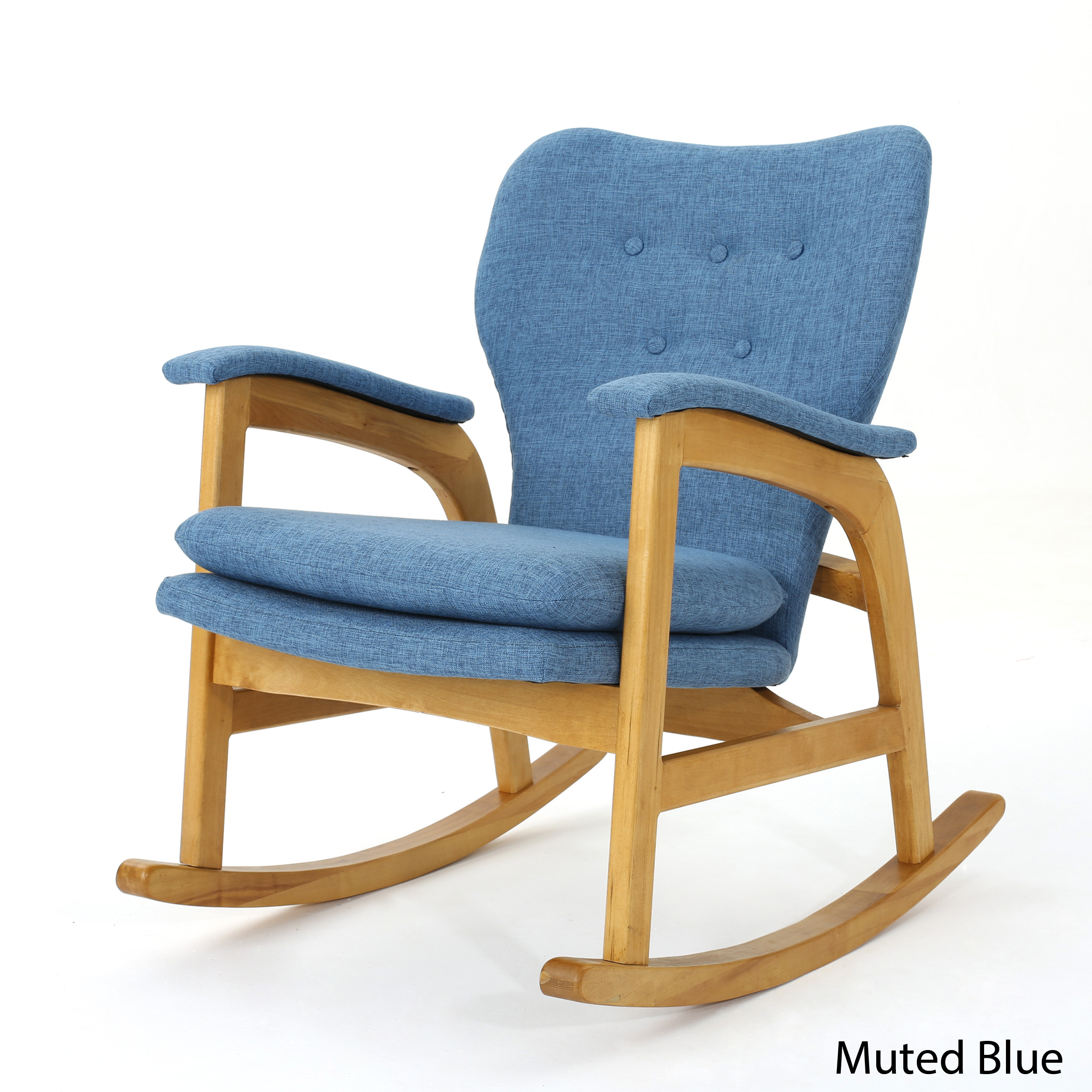Astonishing Details About Bethany Mid Century Fabric Rocking Chair Ibusinesslaw Wood Chair Design Ideas Ibusinesslaworg