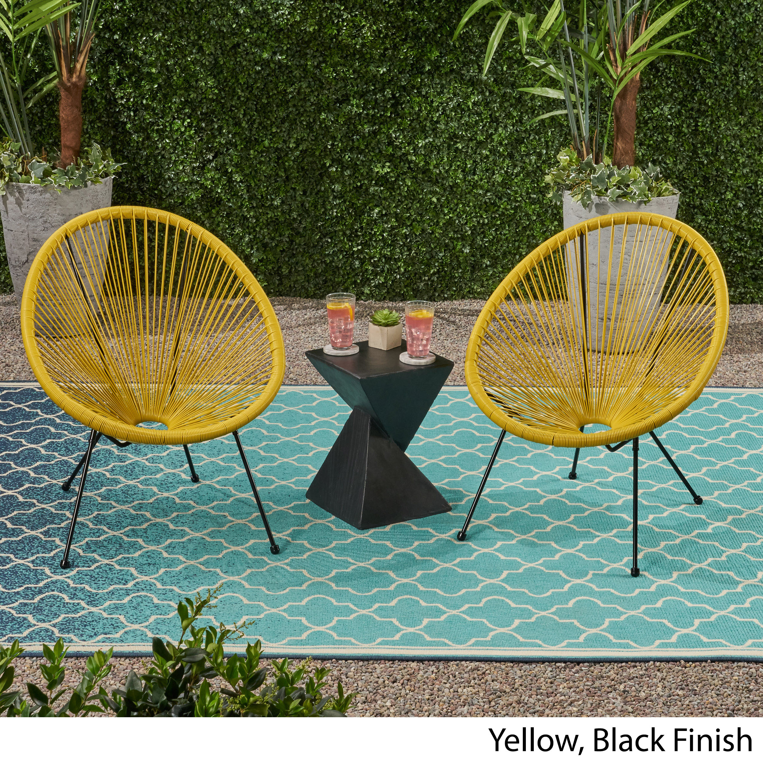 Major Outdoor Hammock Weave Chair with Steel Frame (Set of ...