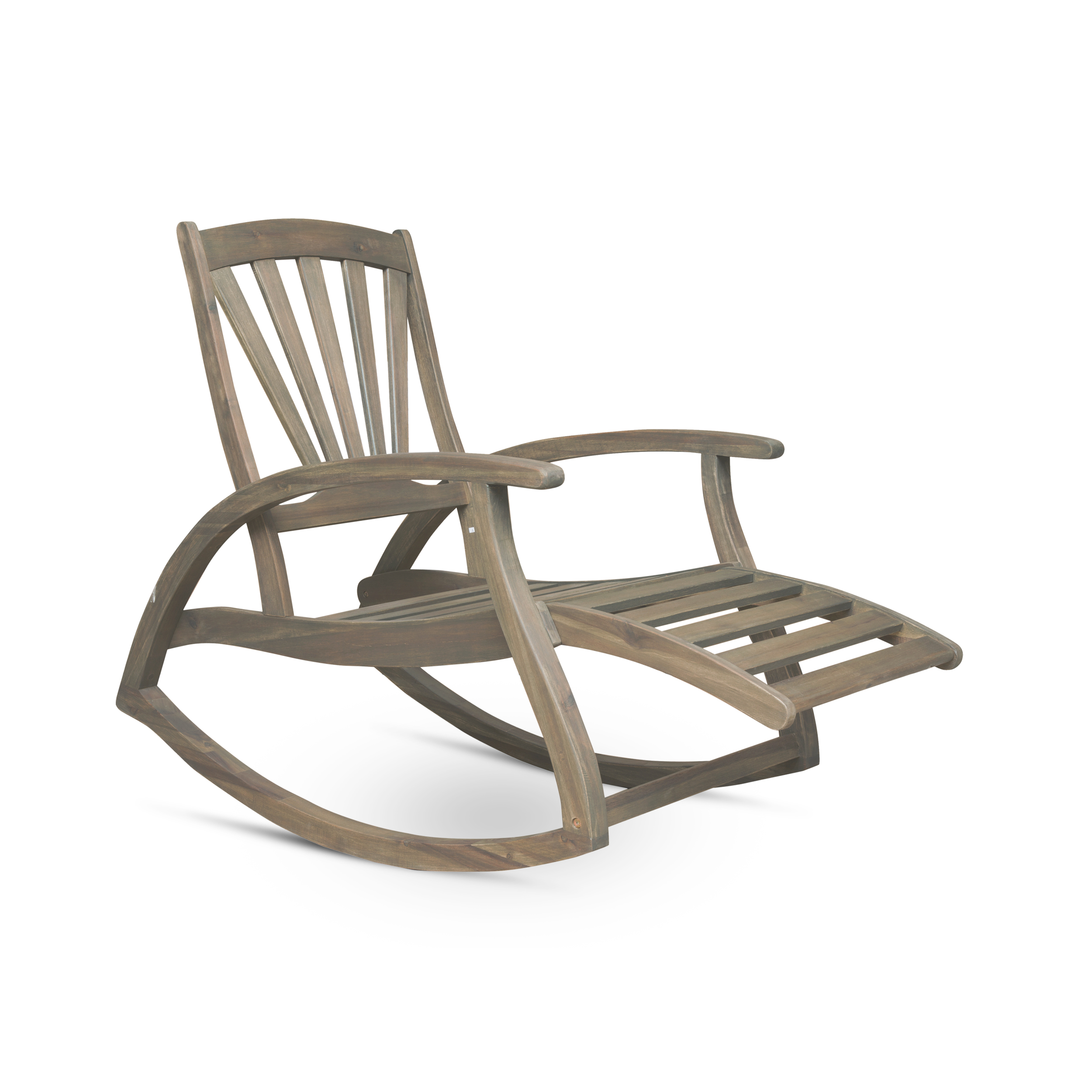 Awesome Details About Alva Outdoor Acacia Wood Rocking Chair With Footrest Lamtechconsult Wood Chair Design Ideas Lamtechconsultcom
