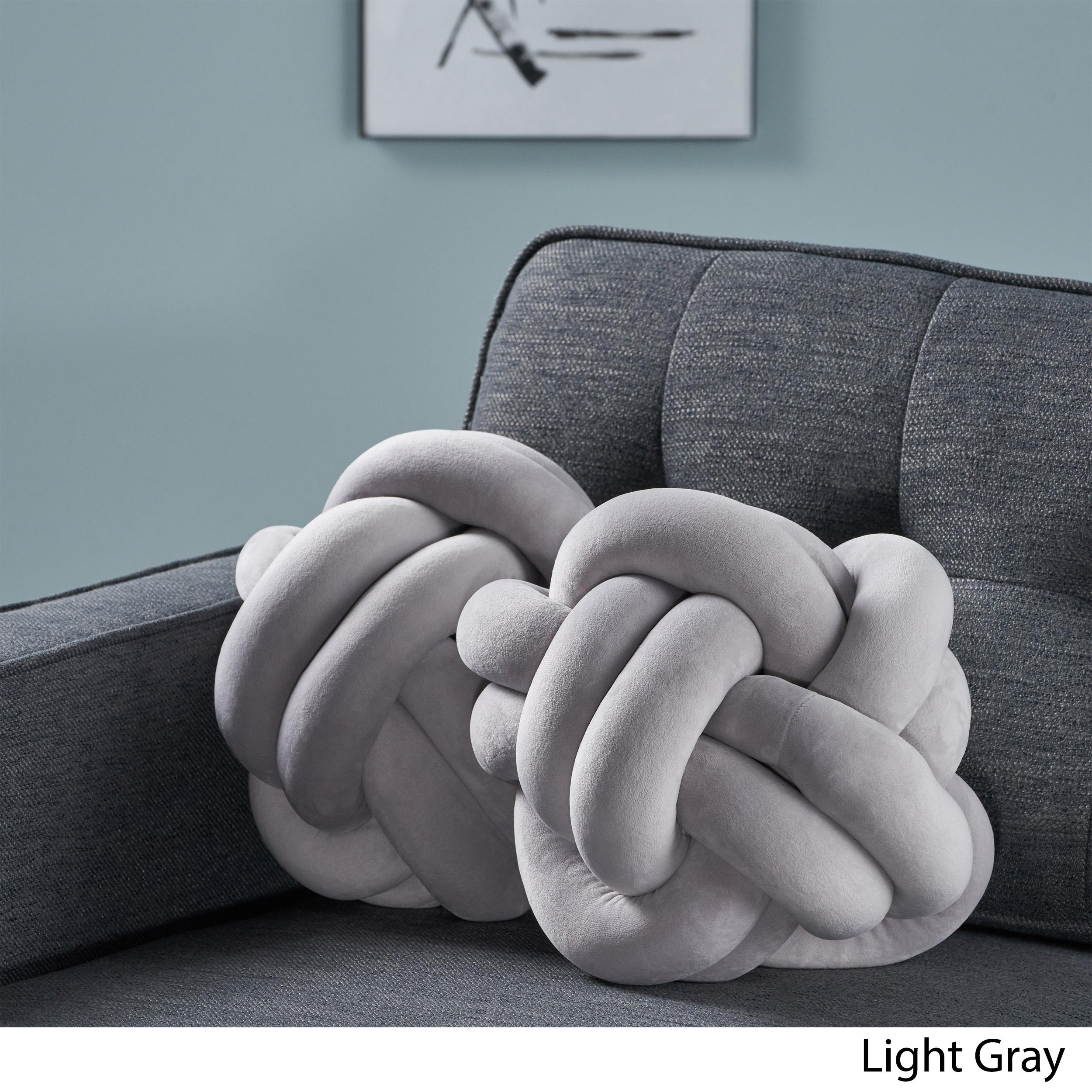 Estelle-Modern-Soft-Velvet-Clove-Hitch-Knot-Pillows-Set-of-2 thumbnail 5