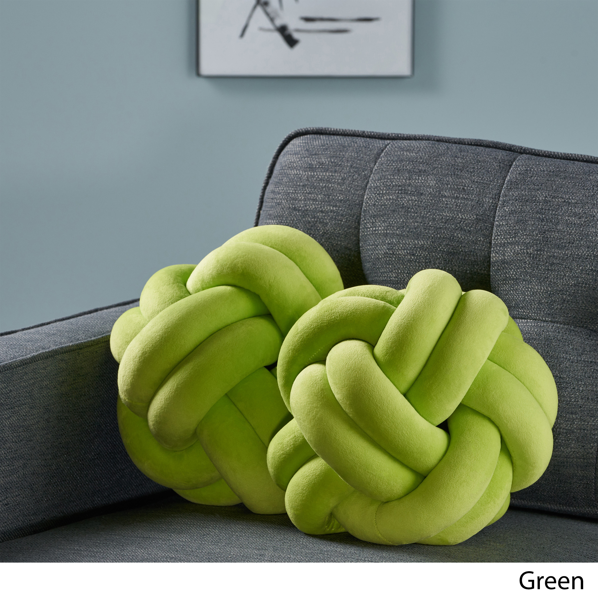Estelle-Modern-Soft-Velvet-Clove-Hitch-Knot-Pillows-Set-of-2 thumbnail 7