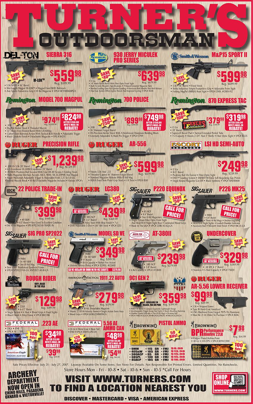 turner's hunt ads july 21 - july 27, 2017! - calguns