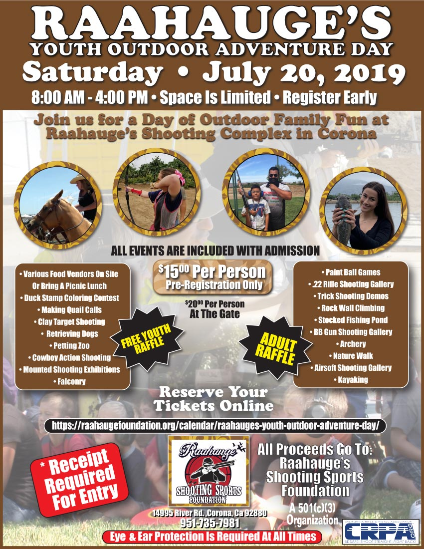 Raahauge's Youth Outdoor Adventure Day - Saturday, July 20, 2019