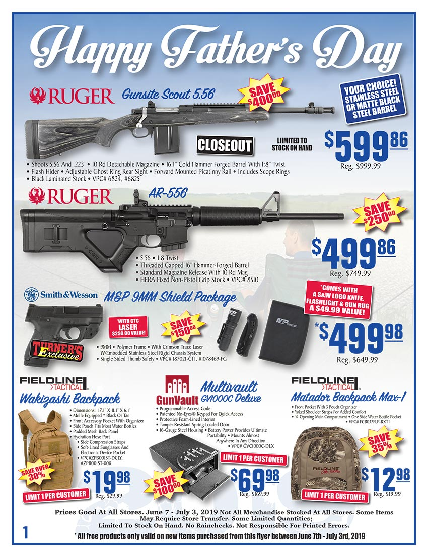 Turner's Father's Day Sale Catalog - June 7 - July 3, 2019