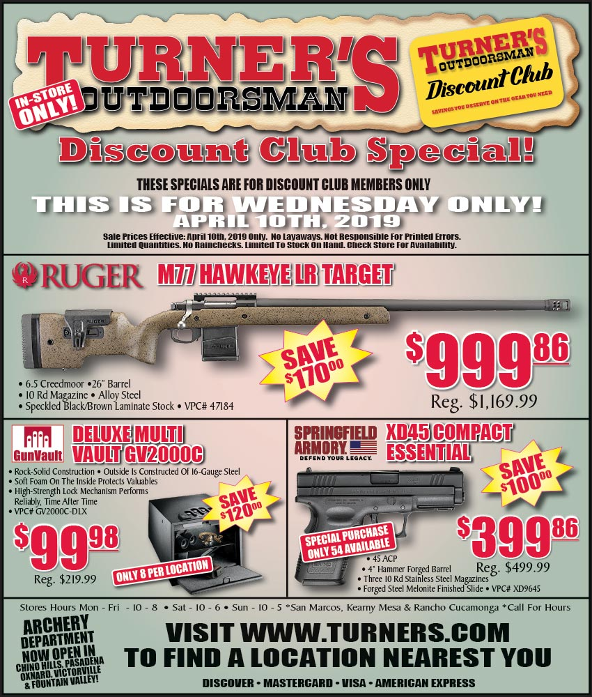 Discount Club Members Specials!