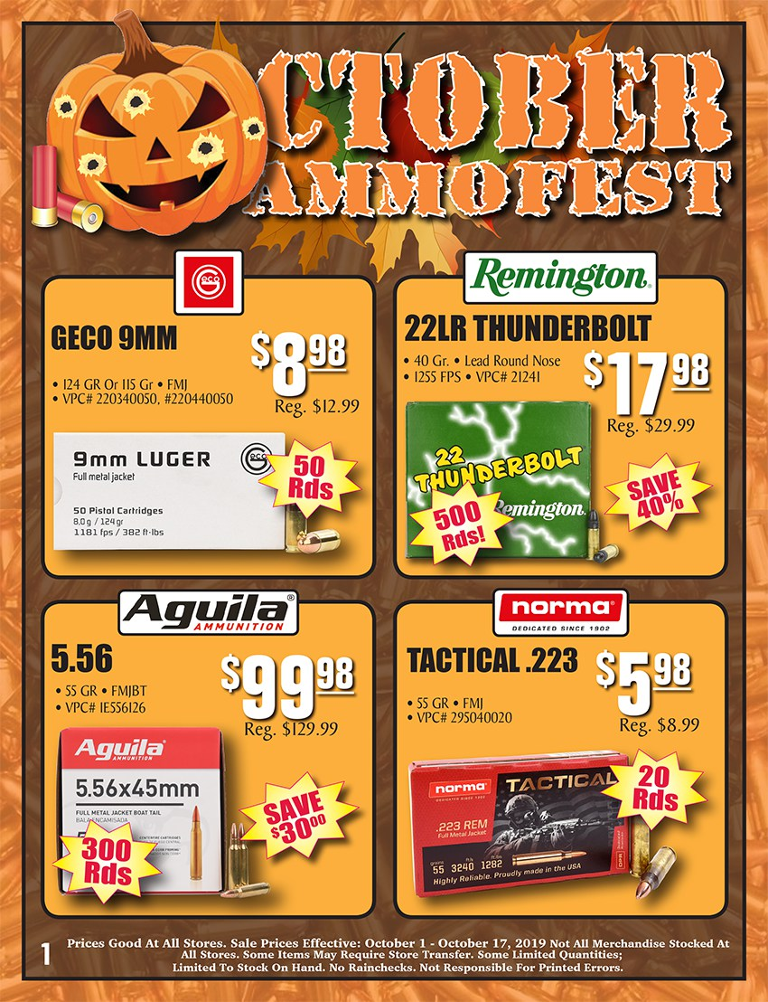 October Ammofest Sale Page 1