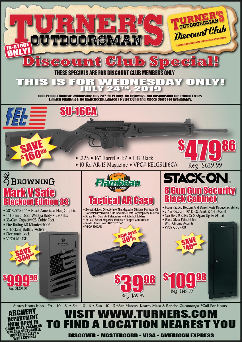 Discount Club Member Specials For July 24, 2019! | Turner's