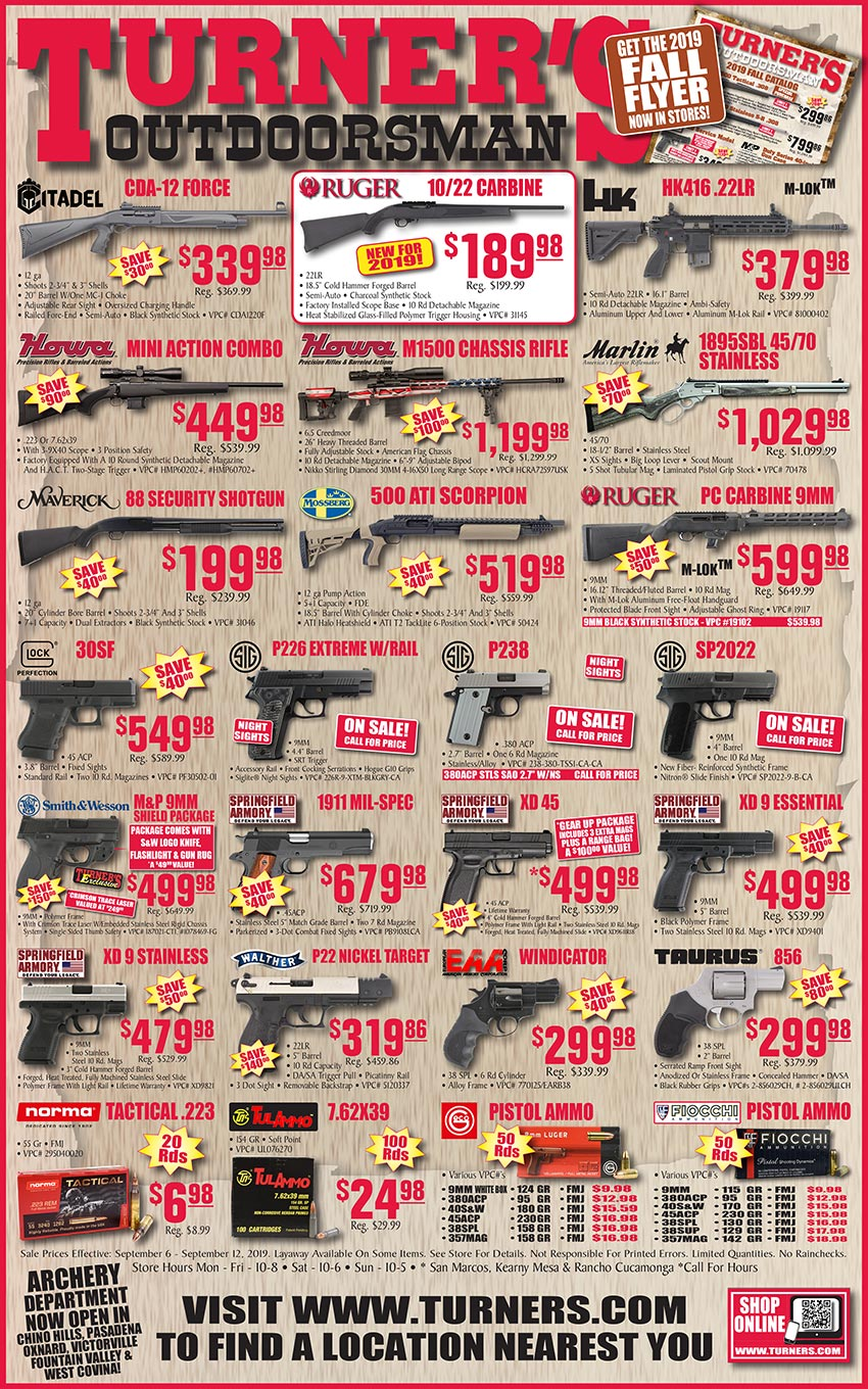 Weekly Ad 1 | Turner's Outdoorsman