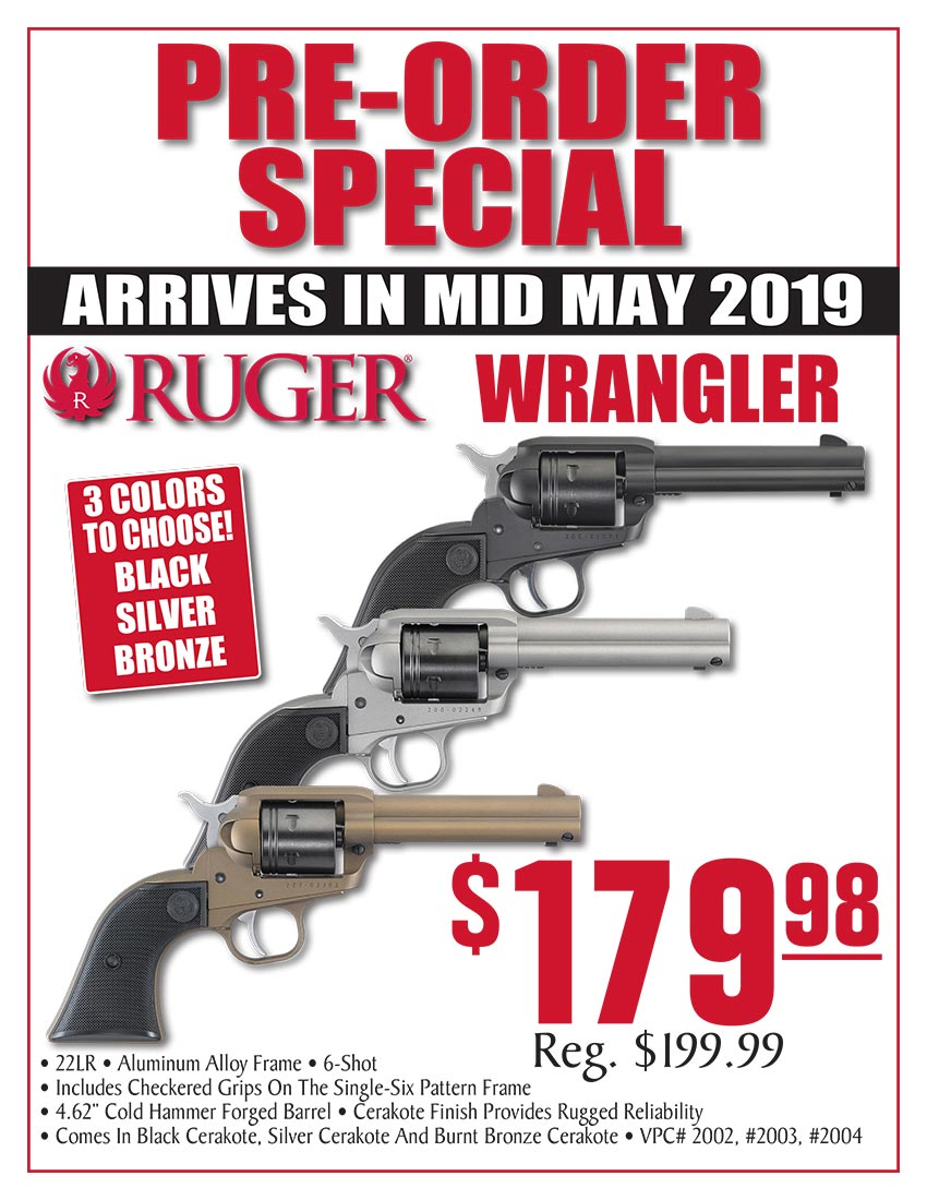 IGNORE: OVER** - Turner's: Ruger Pre-Orders - Wrangler & PC