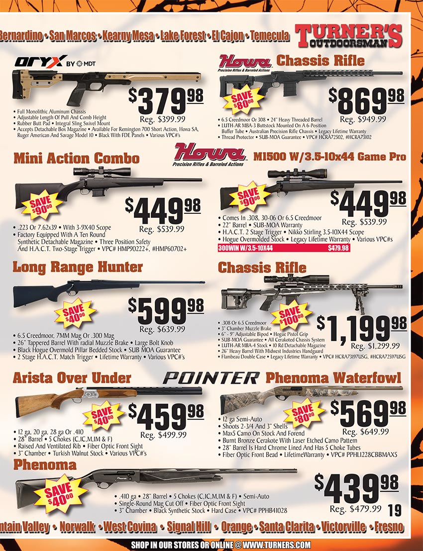 2019 Fall Flyer Page 19 | Turner's Outdoorsman