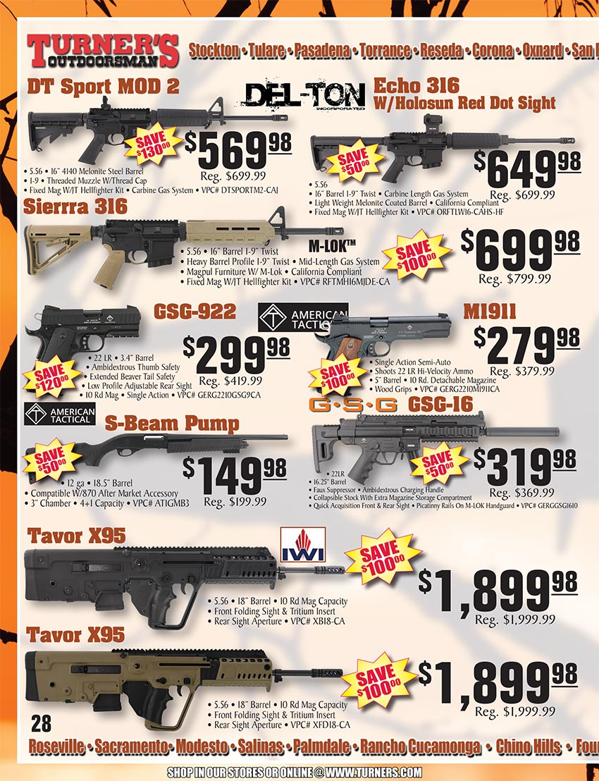 2019 Fall Flyer Page 28 | Turner's Outdoorsman