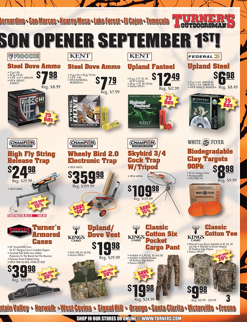 2019 Fall Flyer Page 3 | Turner's Outdoorsman