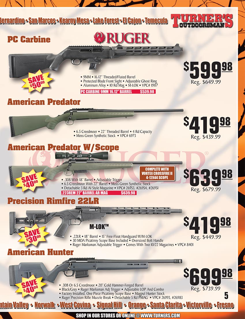 2019 Fall Flyer Page 5 | Turner's Outdoorsman