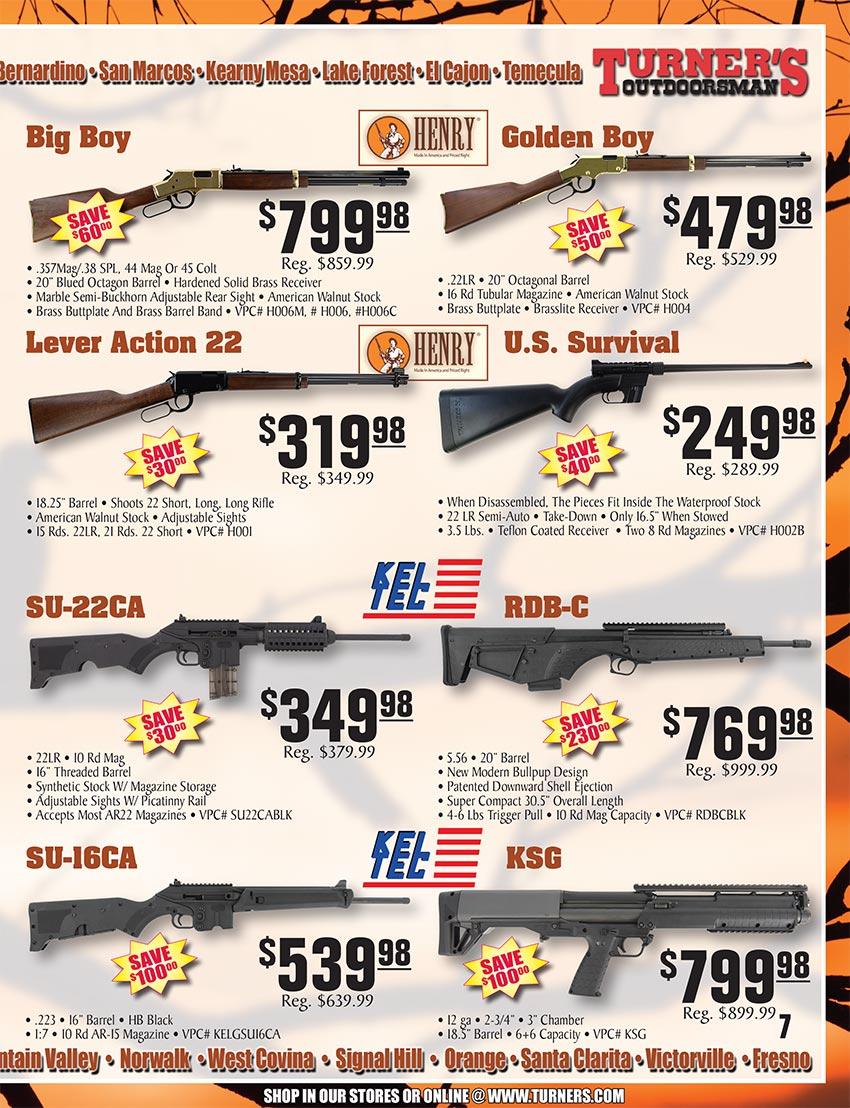 2019 Fall Flyer Page 7 | Turner's Outdoorsman